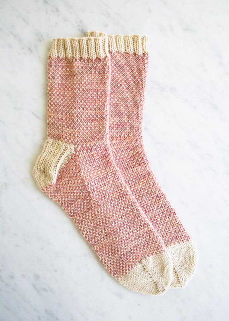 Chaussette layette tricot