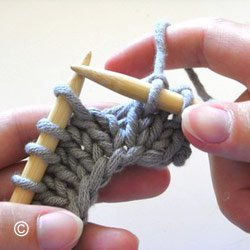 Tricot faire une augmentation intercalaire
