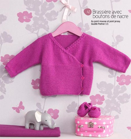 Layette fille a tricoter